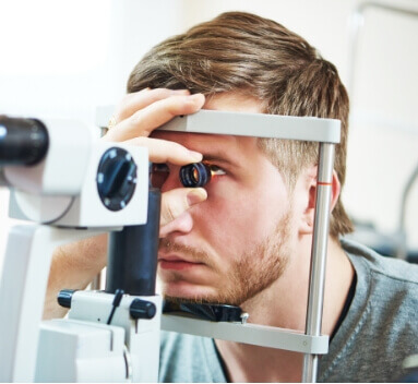 guy getting an eye exam